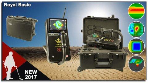 احدث اجهزة الكشف والتنقيب عن الذهب والدفائن  2017 ROYAL  BASIC