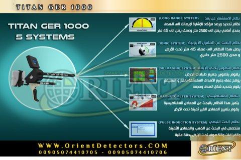 جهاز كشف الذهب الشامل تيتان جير 1000