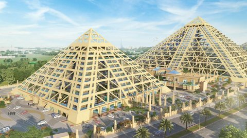 The first residential pyramid in the Middle East